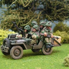 British Airborne Jeeps and crews