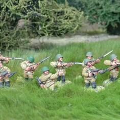28mm ww2 russian sub machine gun squad