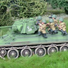 28mm ww2 russian tank riders