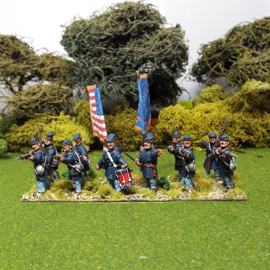 28mm ACW Firing line in Frock Coat