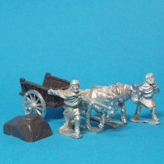 28mm 28mm Dark Age whicker cart with spoked wheels and covered load