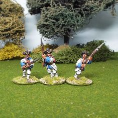28mm seven years war french infantry advancing or charging miniatures.