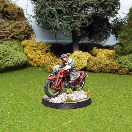 nun on motorbike