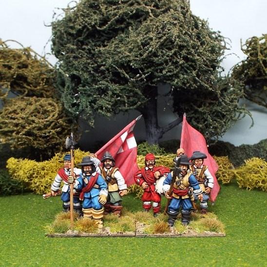 28mm english civil war commands