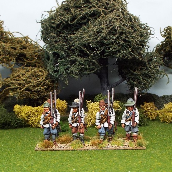 28mm english civil war musketeers marching