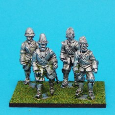 28mm english civil war Armoured Pikemen Marching wearing Monmouth Cap
