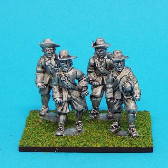 28mm english civil war unarmoured pike men wearing Brimmed Hat