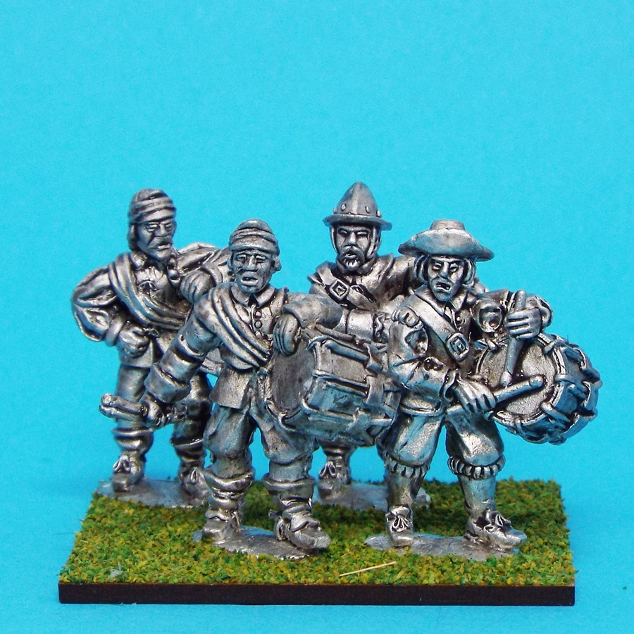 28mm english civil war drummers