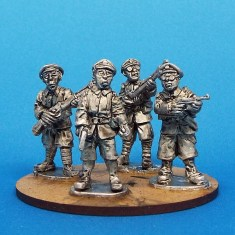 28mm chinese officer and guards pulp miniatures