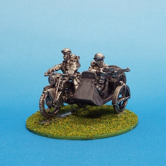 28mm british recon motorbike and side car