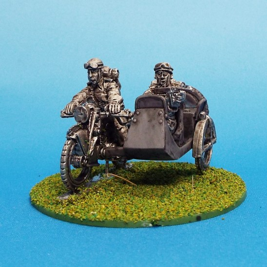 28mmww2 British Reconnaissance Motorcycle and side car.