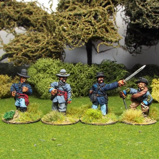 28mm ACW american civil war Officers in Slouch Hat