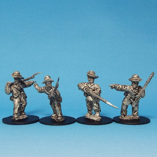 28mm acw nco's in slouch hat