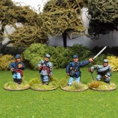 28mm american civil war acw officers in kepi or forage cap