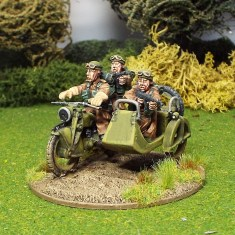 28mm British Reconnaissance Motorcycle and side car