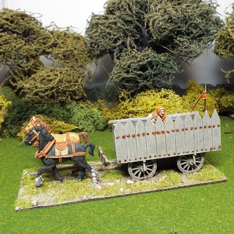 28mm medieval hussite war wagon