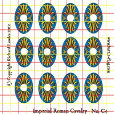 early imperial roman auxiliary cavalry shield transfer decals