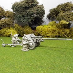 1/48 Zis2 Anti Tank Gun right front 4 crew