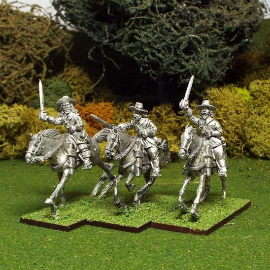 Troopers with sword, Buff Coat, Brimmed Hat, Galloping Horses.