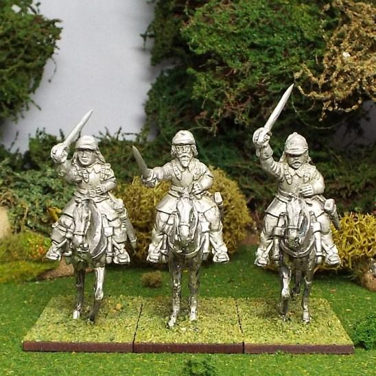Armoured Troopers with Sword, Montero Cap ,Walking Horses.