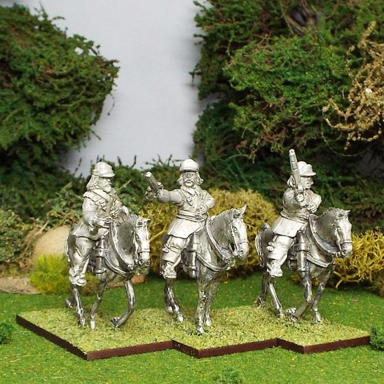 Armoured Troopers with Pistols, Montero Cap, Walking Horses.