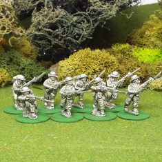 28mm BEF Riflemen with bayonets attached