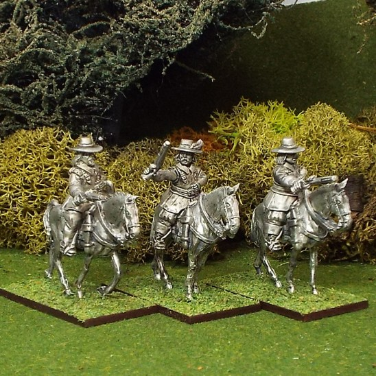 ECW Armoured Troopers with Pistols, Brimmed Hat,Walking Horses.