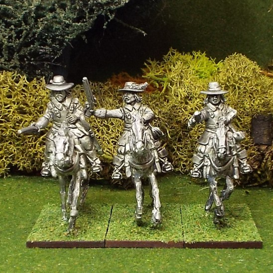 ECW Armoured Troopers with Pistols, Brimmed Hat, Galloping Horses.