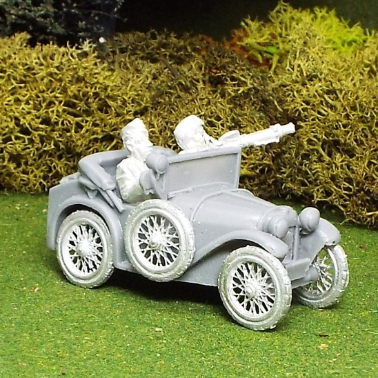28mm Austin 7 with Driver and Lewis Gunner