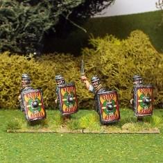 Legionaries with Gladius and rectangular scutum