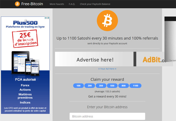 earn free bitcoins from the free