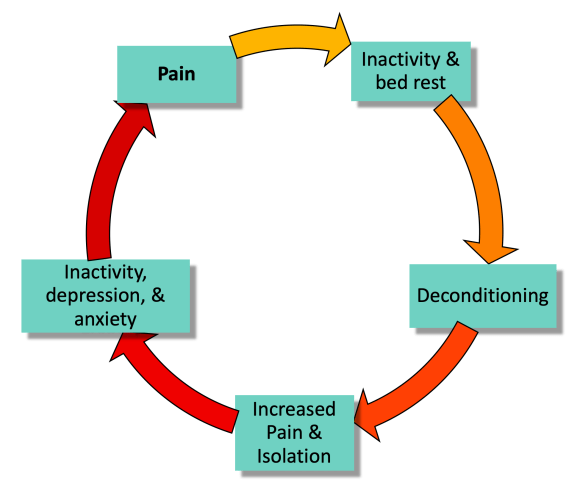 Vicious cycle of pain and deconditioning