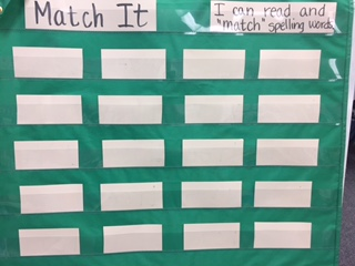 Pocket Chart Match Sight Words