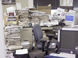 Clean out the paperwork on your desk