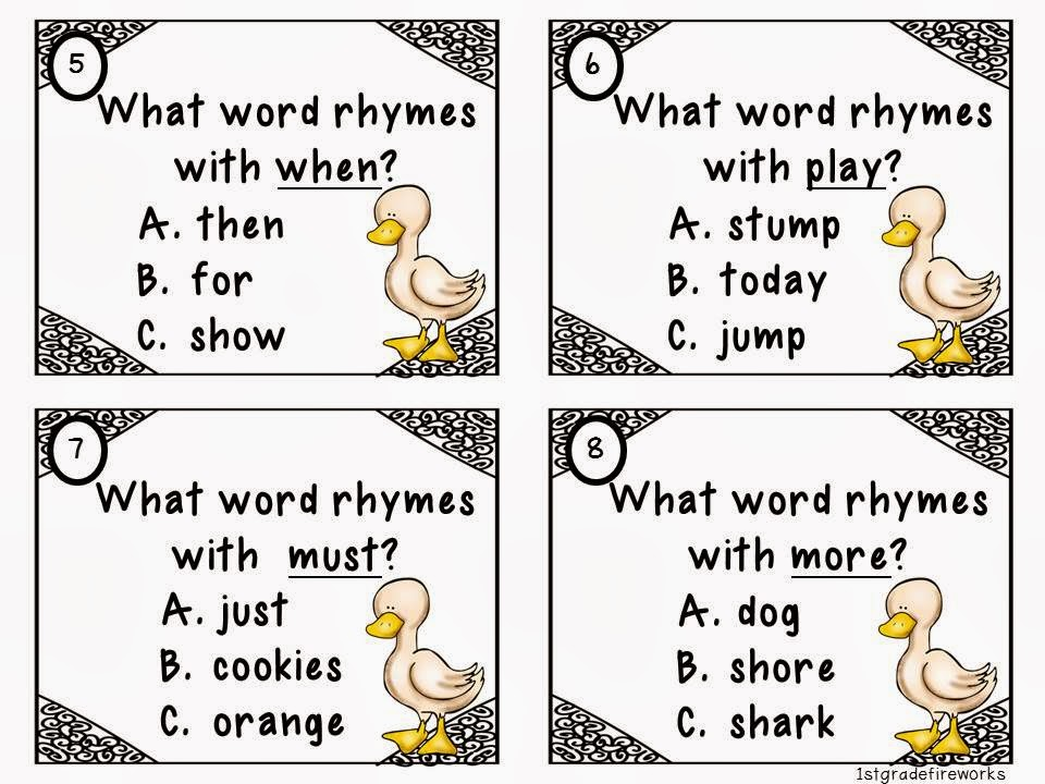 You Quack Me Up ELA & Math for First grade rhyme game