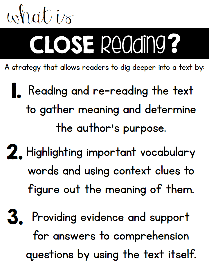 Close Reading strategy