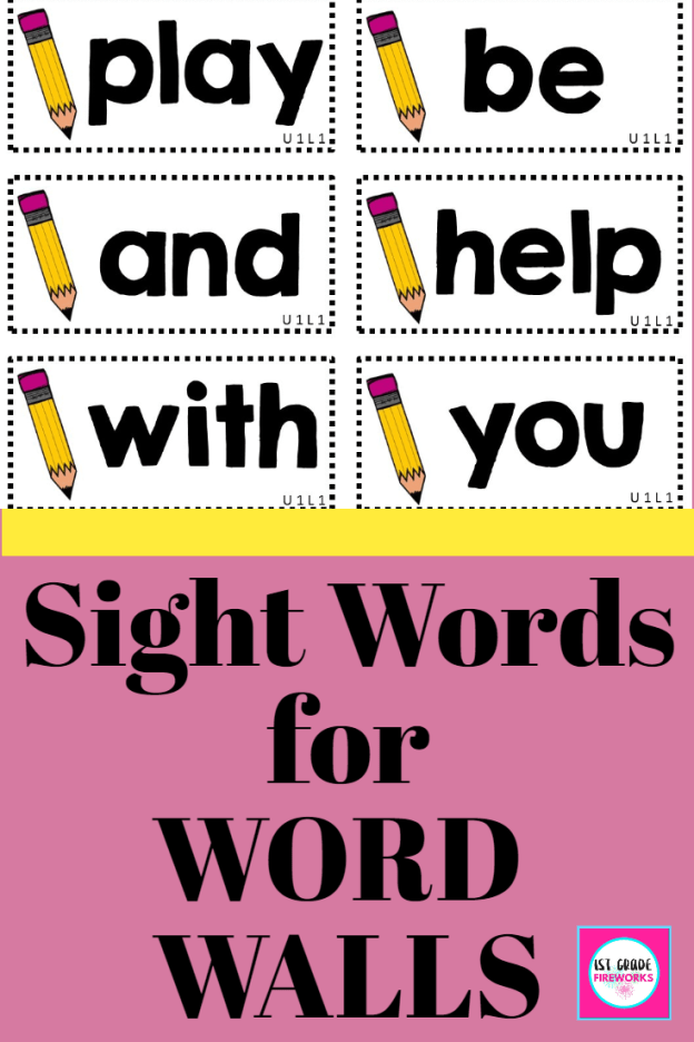 Sight Words for Word walls