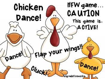 Chicken Dance! Sight Word Game