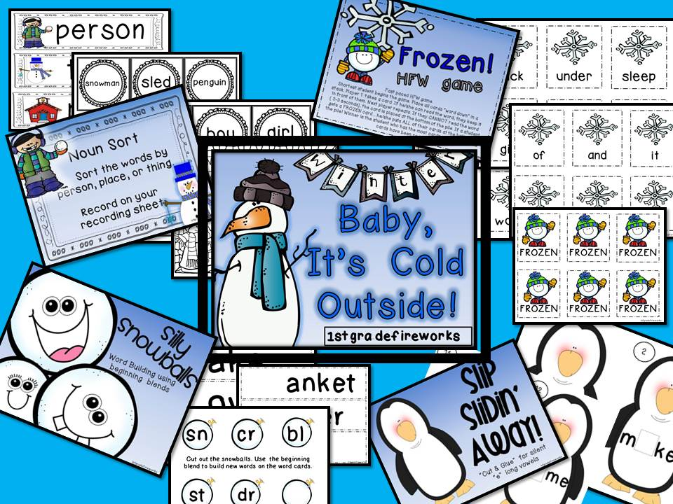 Baby It's COLD OUTSIDE Winter Centers