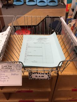 Homework Basket for Entering the Classroom Routines.