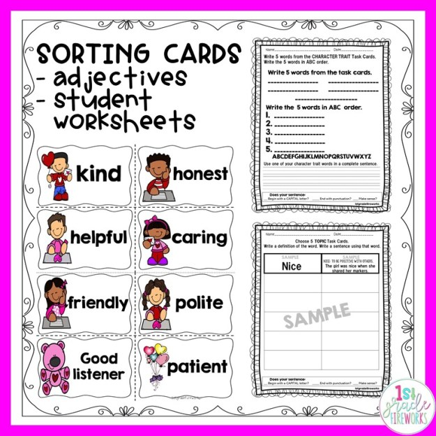 Character Traits for Reading and Writing. How to help young students interact with story characters.