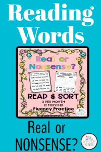 Real or Nonsense Words? How to help your students with phonics fluency. Great for EL's and EO's.