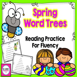 Spring Word Trees for Reading Fluency UPDATED with Easy-prep extensions.