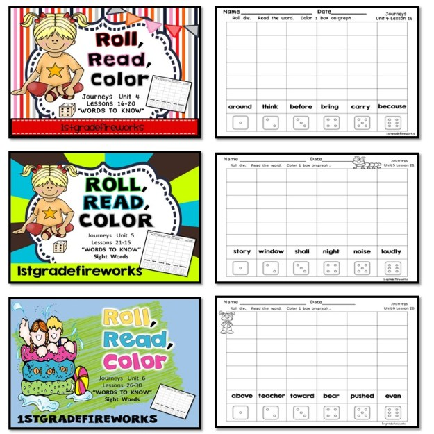 https://www.teacherspayteachers.com/Product/Roll-Read-Color-180-Sight-Words-First-Grade-3728976