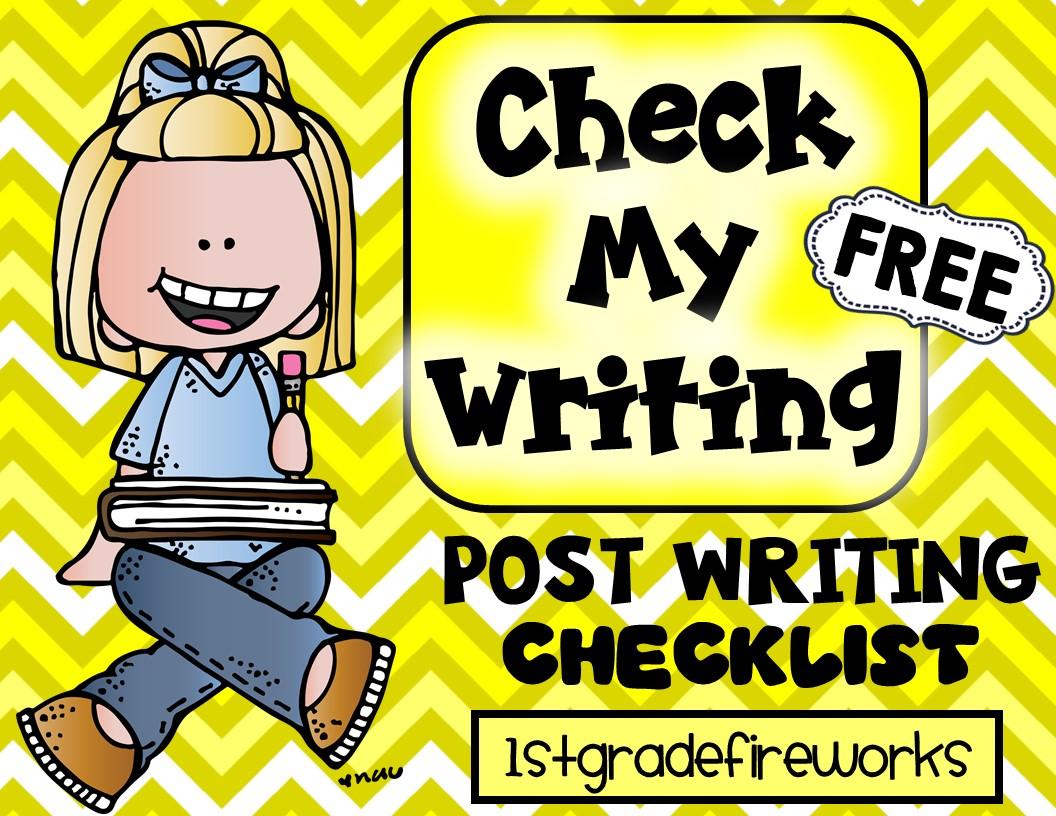 Check My Writing. Post Writing Checklist.