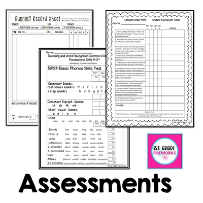 Assessments drive your instruction for small groups!