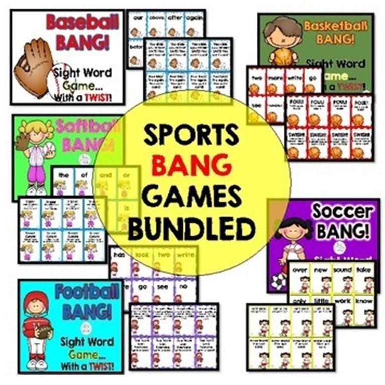 Sports BANG! Sight Word GAMES