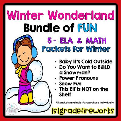 Winter Wonderland Holiday Literacy & Math BUNDLE