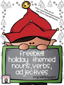 Holiday Noun, Verb, & Adjectives