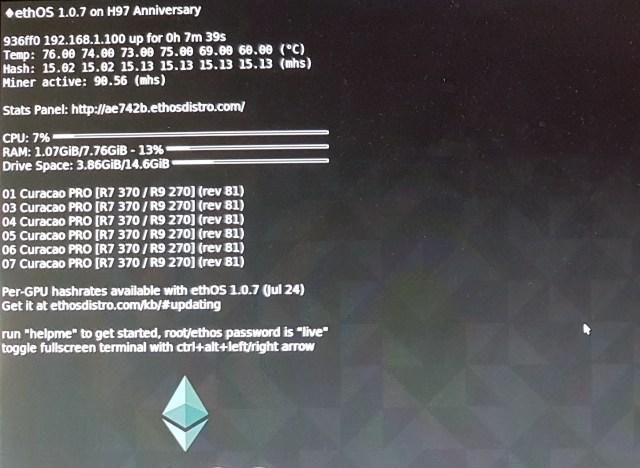 Asus Strix AMD Radeon R7 370 4GB Maximum Hashrate 2